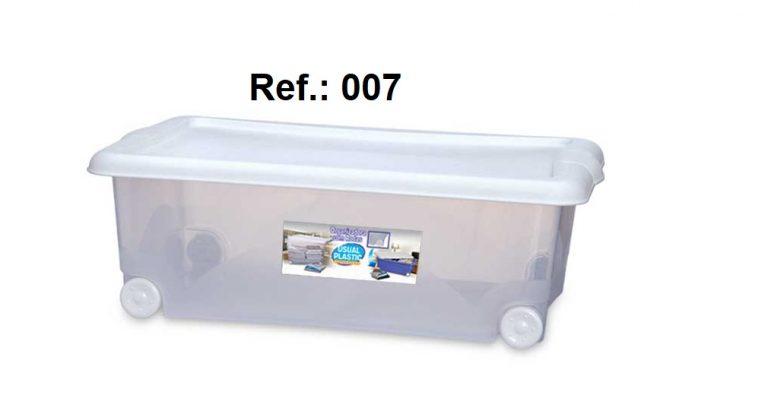 ORGANIZADORA 30L TRANSLÚCIDA COM RODAS REF 007