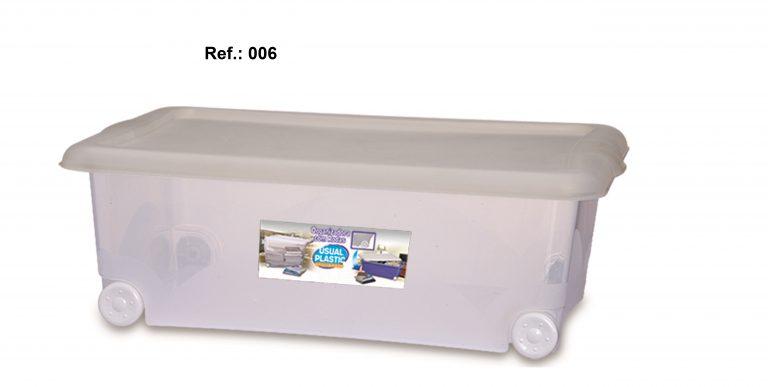 Org. Translúcida 30L com Rodas - 1