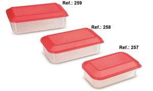REF 260 KIT 3 POTES VERMELHO ( 650 ML - 1,1L - 1,8L ) (2) - Copia