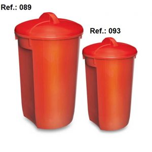 LIXEIRA 60L-32L COM TAMPA REF 089 (60L) e 093 (32L)