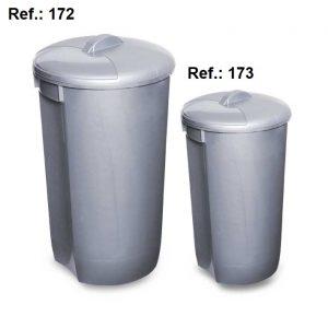 LIXEIRA 60L-32L COM TAMPA REF 172 (60L) e 173 (32L)