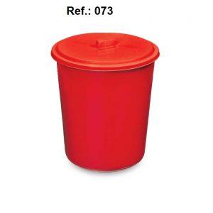LIXEIRA 7L COM TAMPA REF 073